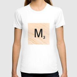 Scrabble Letter M - Large Scrabble Tiles T-shirt