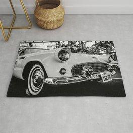 Classic 57 T-bird Black and White Photographic Print Rug