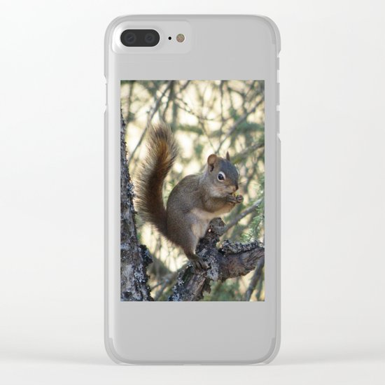 Soldotna Red Squirrel Clear iPhone Case