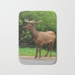 Wapiti At The Roadsite Bath Mat