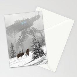 1920 - winter walker Stationery Cards