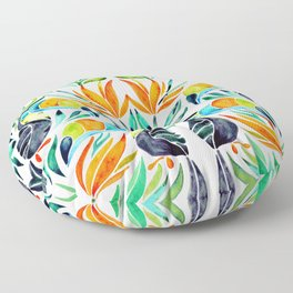 Tropical Toucans Floor Pillow