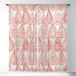 Indian raindrops fire Sheer Curtain