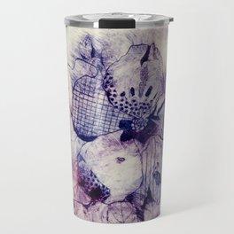 Mixed Purple Hibiscus Travel Mug