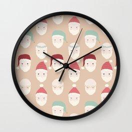 Santas - Mocha Wall Clock