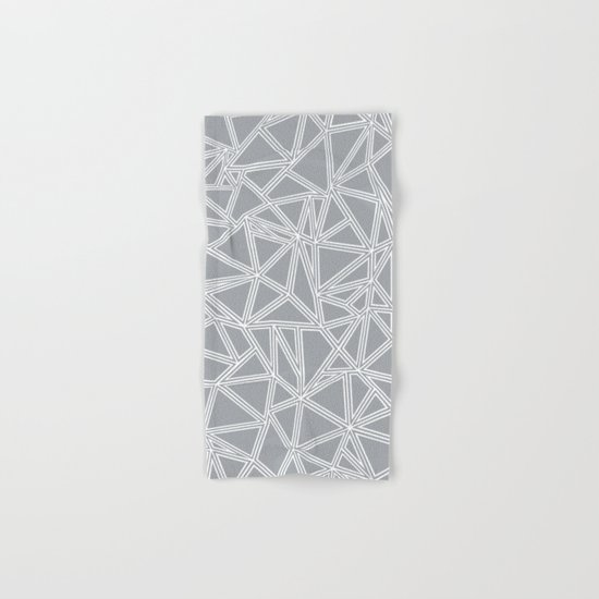 Shattered Ab Grey and White  Hand & Bath Towel
