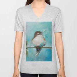 Cute Chickadee Bird Unisex V-Neck