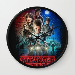 stranger thing Wall Clock