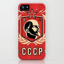 Emblem Lenin Face & CCCP iPhone Case