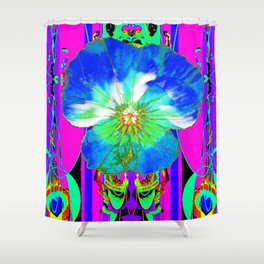 Purple Pansy Garden Fantsy Abstract Shower Curtain