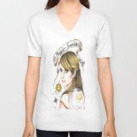 ahs V-neck T-shirts featuring Maggie Esmerelda-AHS by MELCHOMM
