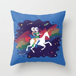 Love Rules the Galaxy Throw Pillow