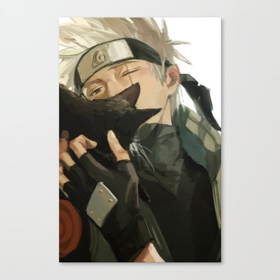 Kakashi & Cat Canvas Print