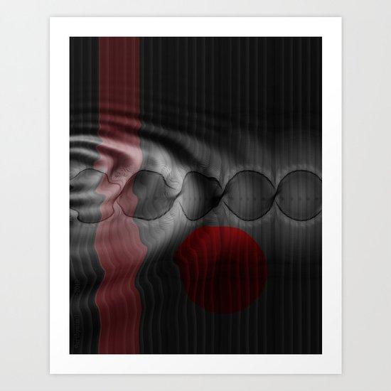 GLIDING THROUGH AN ECHO Art Print