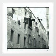 Venezia black&white Art Print