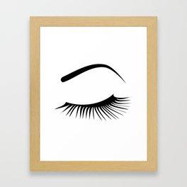 Closed Eyelashes Left Eye Framed Art Print