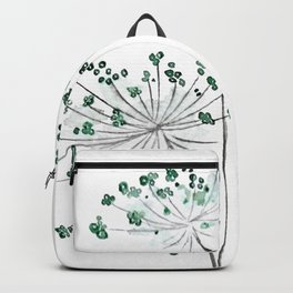 wild carrot watercolor Backpack