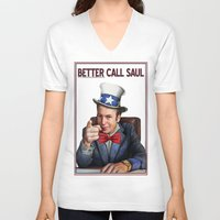 better call saul V-neck T-shirts featuring Better Call Saul by Magdalena Almero