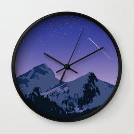 Cosmos Mountain Wall Clock