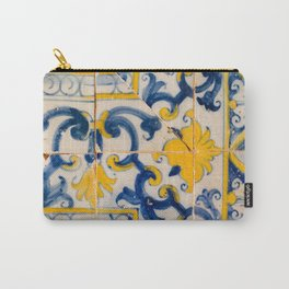 Portuguese azulejos, city of Ericeira Carry-All Pouch