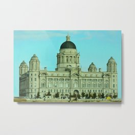 Port of Liverpool Building (Digital Art) Metal Print