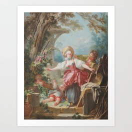 Blind-Mans Buff Jean - Honoré Fragonard 1750-1752 Art Print