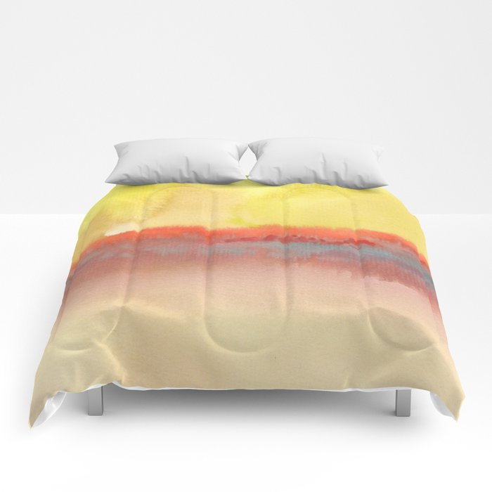 Watercolor abstract landscape 01 Comforters