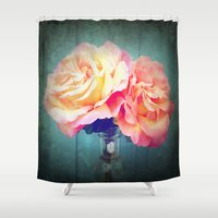 vintage flowers Shower Curtains featuring Vintage Flowers by 2sweet4words Designs