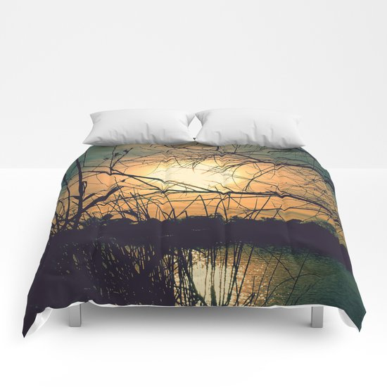 Spring Sunset Comforters