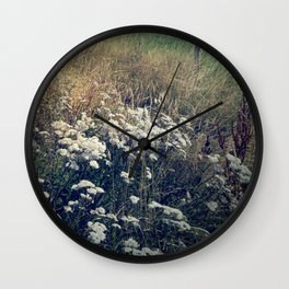 Rustic Field of Vintage Country Daisies Wall Clock