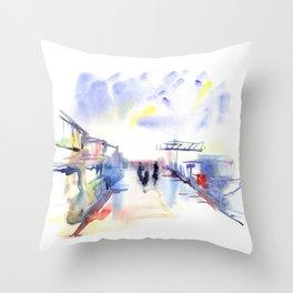 Limassol Marina. Throw Pillow