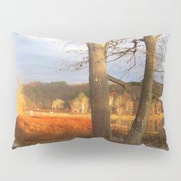 Delaware River Glowing Fall Foliage Pillow Sham