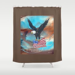 Free Indeed Shower Curtain