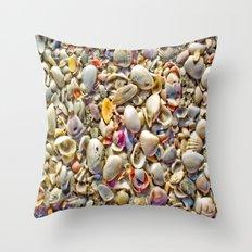 Seashells on the Shore Throw Pillow
