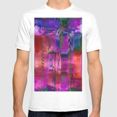 Infused colors White Mens Fitted Tee MEDIUM