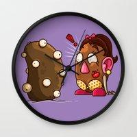 potato Wall Clocks featuring Potato Potaato by Artistic Dyslexia