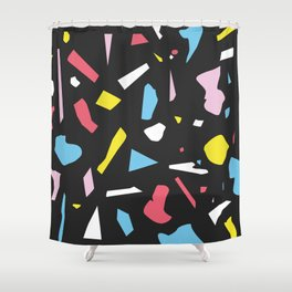 Abstract Terrazzo Pattern 01 Shower Curtain