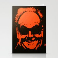 jack nicholson Stationery Cards featuring Jack by Ty McKie Creations