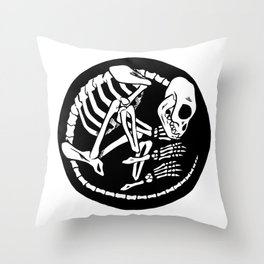 Skeleton 504 Throw Pillow