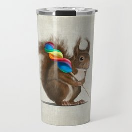 Squirrel with lollipop Travel Mug