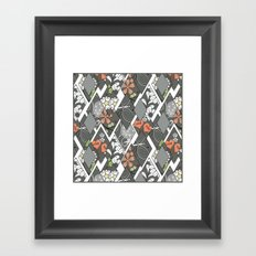 Patchwork,abstract floral,pattern. Framed Art Print