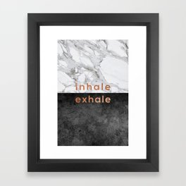Inhale Exhale, Yoga Quote Framed Art Print