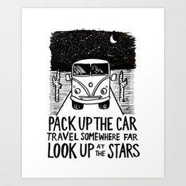 Adventure Bus Art Print