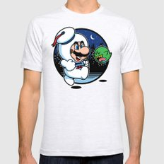 Super Marshmallow Bros. Ash Grey Mens Fitted Tee MEDIUM