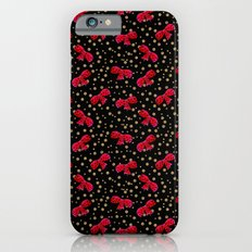 Red bow and glitter golden polka dots seamless pattern Slim Case iPhone 6s
