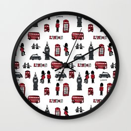London icons illustration Wall Clock