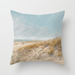 Chatham Lighthouse Beach Throw Pillow