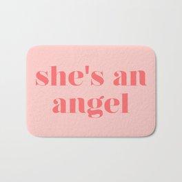 she's an angel Bath Mat