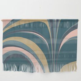 Teal Leaves Wall Hanging