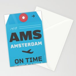 Amsterdam airport code AMS tag Stationery Cards